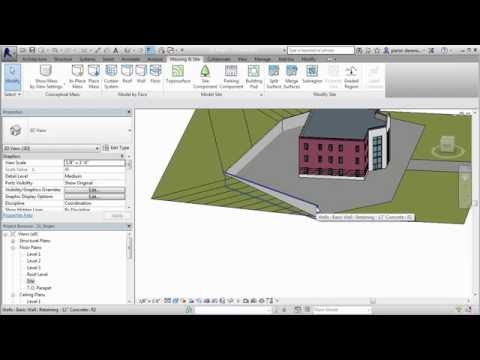 Create a Subregion of a Toposurface in Revit Architecture