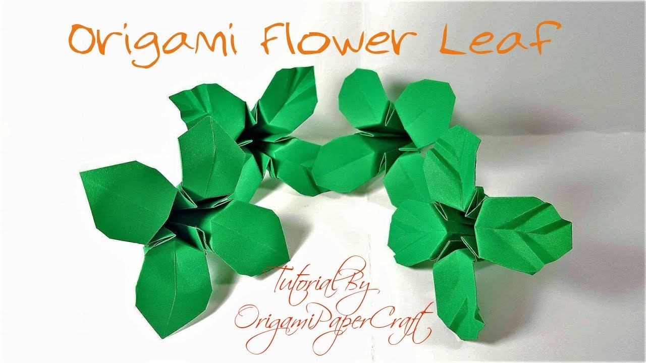 Origami Leaves for Rose Kawasaki - Origami easy tutorial - YouTube | 720x1280