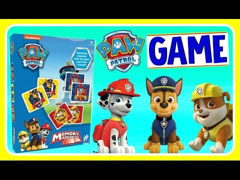 PAW PATROL MEMORY MATCH GAME with PAW PATROL PUPS! Nickelodeon Fun Games YouTube Video For Kids
