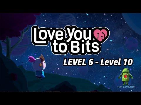 Love You To Bits Walkthrough Level 6 7 8 9 10 (ALL BONUS ITEMS) - GAMEPLAY