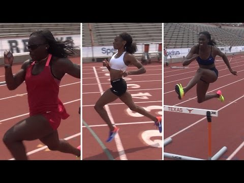 Workout Wednesday: Courtney Okolo, Ashley Spencer, Morolake Akinosun
