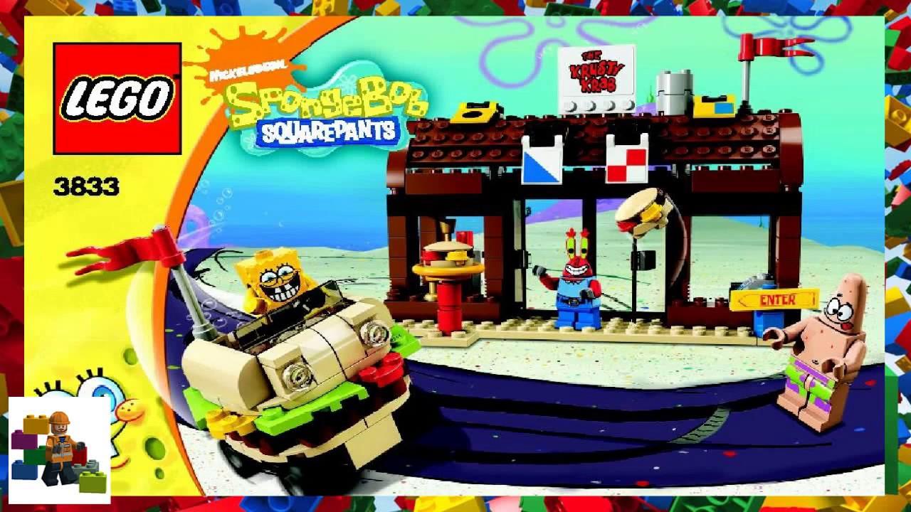 Lego Instructions Spongebob 3833 Krusty Krab Adventures