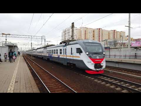 [ 4k 60fps ] РЭКС - экспресс электричка от Курского вокзала до станции Железнодорожная.