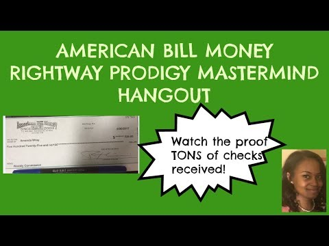 American Bill Money [RPM Mastermind] Hangout Checks Received with ABM!