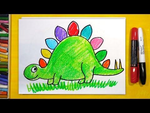 Как нарисовать динозавра для детей