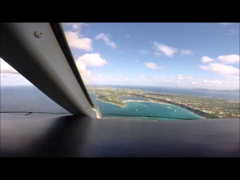 Flight from Philadelphia to Anguilla Challenger 300 Cockpit view