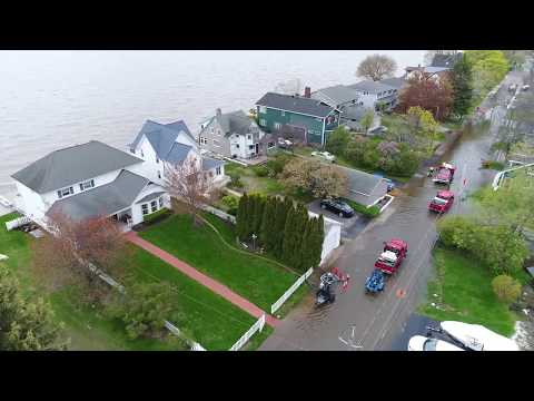 Aerial Drone footage of Lake Ontario Flooding, May 2017