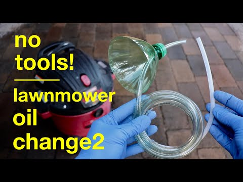 Simple Lawnmower Oil Change ● Using Your Shop Vac !