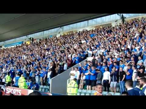 Amazing supporters of Portsmouth FC in Home Park by Mauro Tavernard