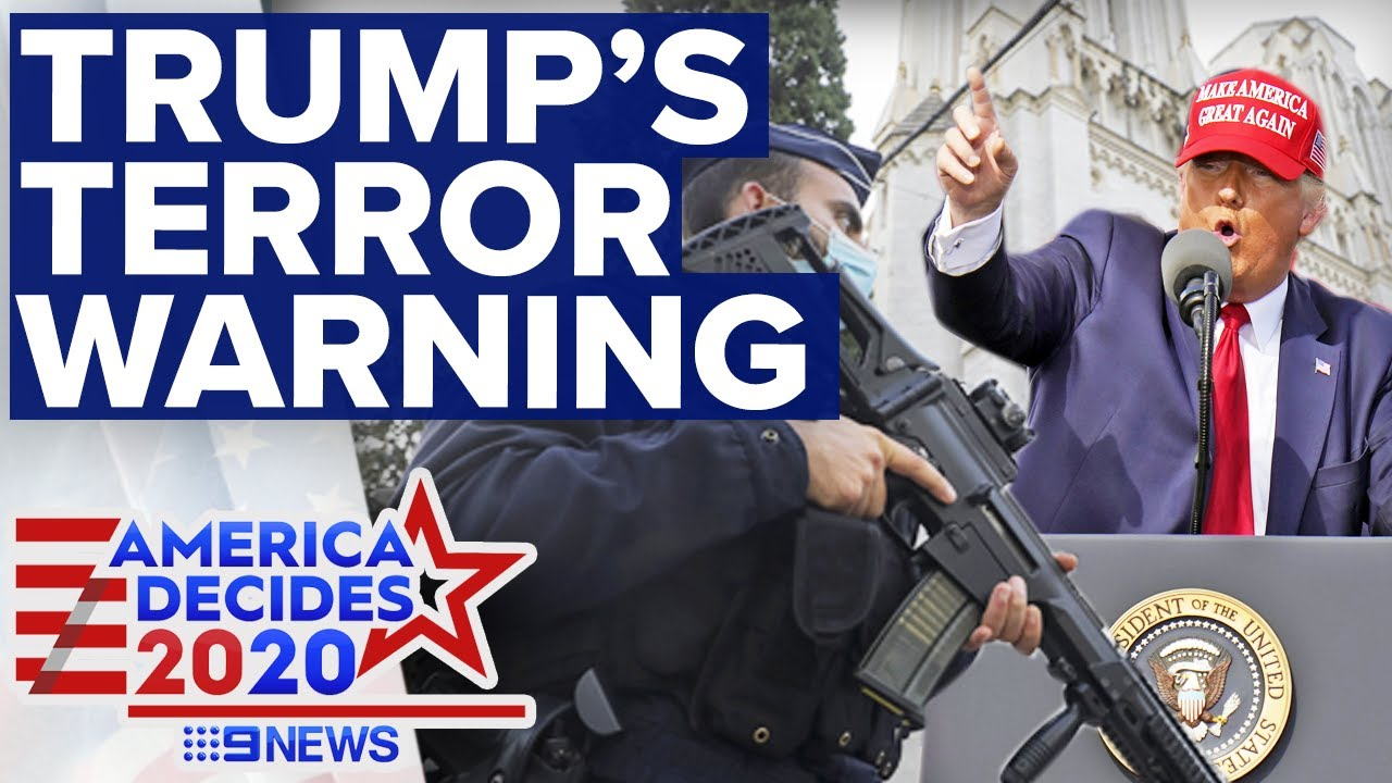 Trump claims Biden would open floodgates to Islamic terrorism | 9News Australia