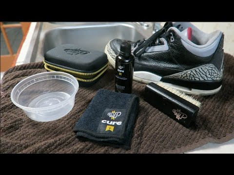 HOW TO CLEAN AIR JORDAN RETRO 3 BLACK CEMENT | CREP PROTECT