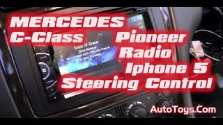 MERCEDES BENZ W203 C-CLASS RADIO with  INTERFACE WIRING (Pioneeer AVHX3500BT CDIV202AV)