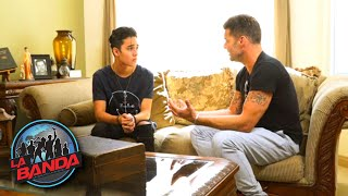 Ricky Martin Visits Joel Pimentel at Home