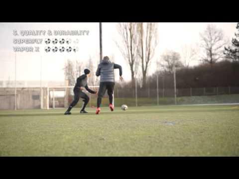 Ibrahimovic VS Ronaldo   Boot Battle  Nike Mercurial Vapor X Vs Superfly IV Test U0026 Review