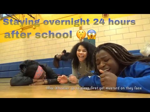 I spent 24 hours overnight at my school! *NOT CLICKBAIT*