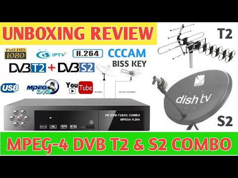 Unboxing And Review DVB T2 & S2 Combo 8902 Mpeg-4 Set Top Box For DD Free Dish
