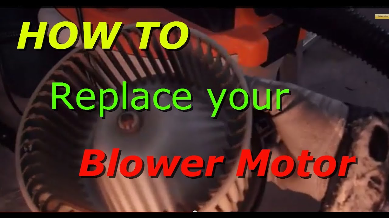 how to replace the blower motor and speed resister on a