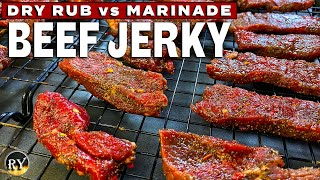 Beef Jerky Made In The Oven - Dry Rub vs Marinade