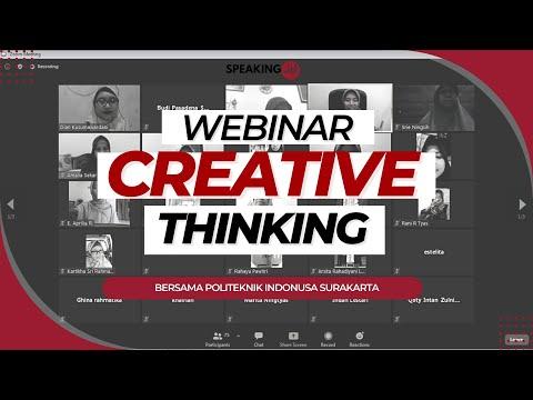 Seminar Online Politeknik Indonusa Membangun Pola Pikir Kreatif