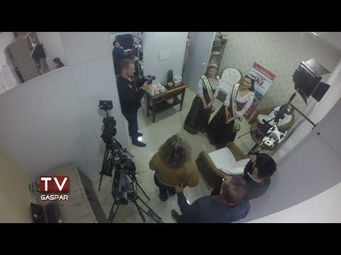 Realeza do Festinver visita TV Gaspar
