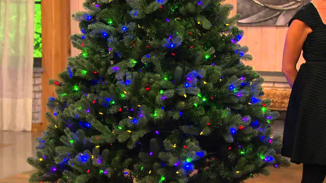 santas best 75 colorado spruce tree w ez power 7 light functions with dan hughes youtube
