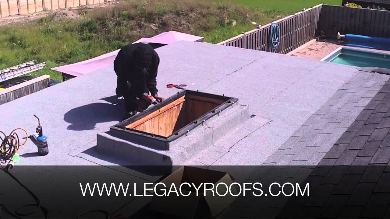 Leaking Skylight Flat Roof Project Legacy Flat Roofing