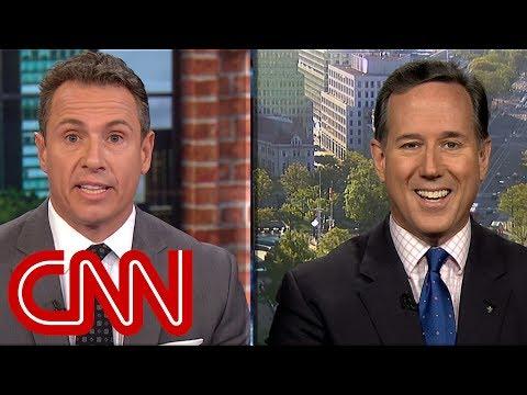 Cuomo, Santorum spar over Trump's honesty