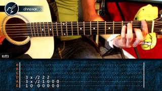 "Cómo tocar ""Enter Sandman"" de Metallica en Guitarra Acústica (HD) Tutorial - Christianvib"