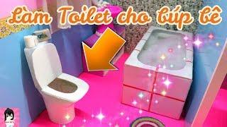Cách làm Toilet cho búp bê / Make a doll toilet - Doll Crafts Ami DIY