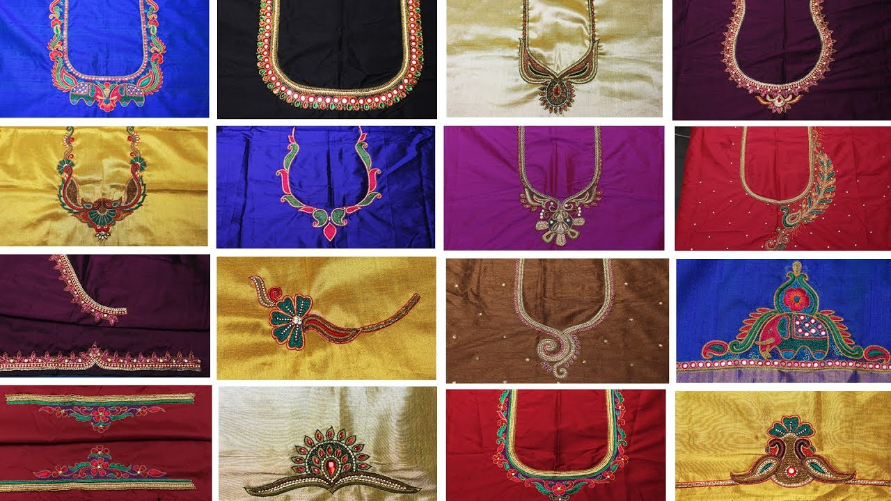 Hand Embroidery For Beginners Latest Maggam Work Blouse Designs Blouse Designs,Creative Design Workspace