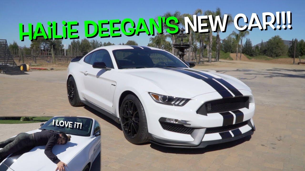 Download 18 YEAR OLD GIRL GETS A COBRA MUSTANG!!! Hailie Deegan's new car!
