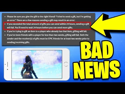 Fortnite GIFTING SYSTEM RELEASE DATE! BAD NEWS for Fortnite Mobile (Fortnite Mobile iOS Season 7)
