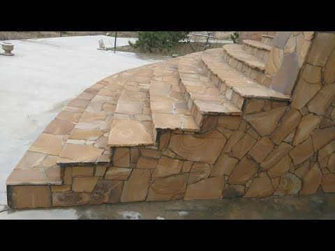 #Анапа #Кладкакамня Дикий камень,кладка дикого камня( тигровая лестница).