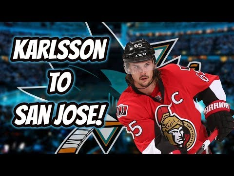 Erik Karlsson TRADED to the San Jose Sharks! | Auddie James