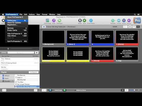 ProPresenter 6: Planning Center Online