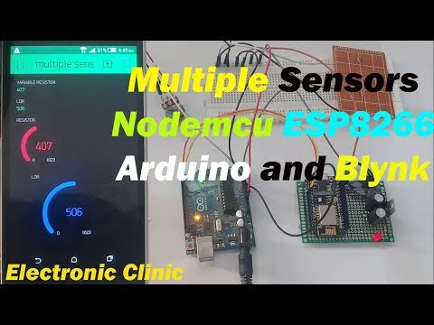 Arduino IOT Project: Monitor Multiple analog sensors using N