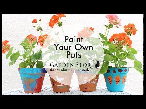 Garden Store - Painted Garden Pots