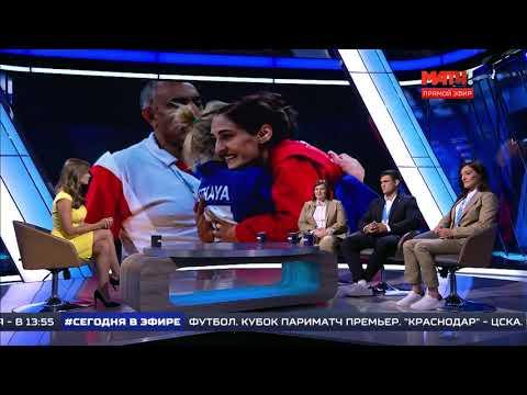 Анастасия Кондратьева, Сергей и Диана Рябовы в программе «Все на МАТЧ!», часть 1