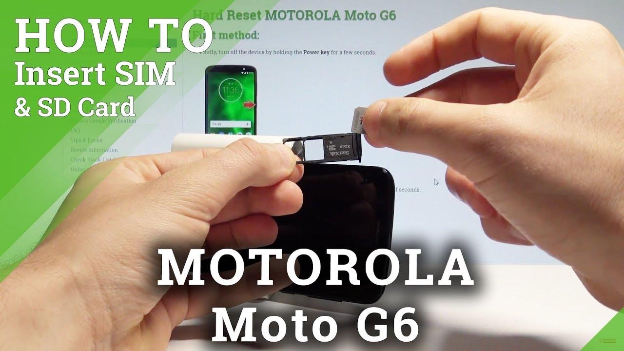 How to Insert SIM and SD in MOTOROLA Moto G6 - Set Up SIM & SD  |HardReset Info