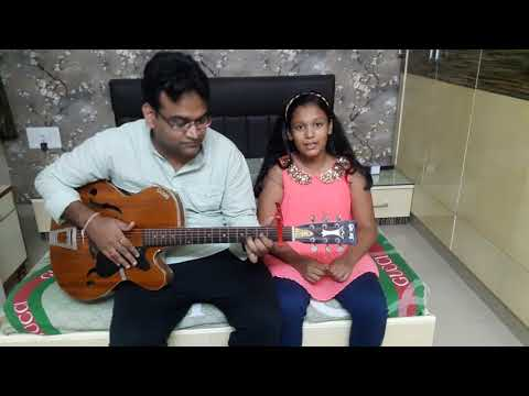 Daddy and daughter duo. Dilbaro guitar cover.
