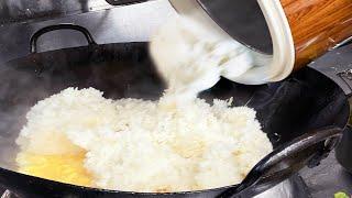 16人分の豚筋炒飯を一気に作る調理動画【まかない】fried rice with pork tendon for 16 people