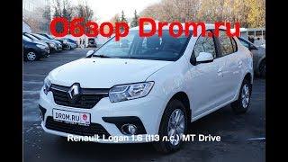 Renault Logan 2018 1.6 (113 л.с.) MT Drive - видеообзор