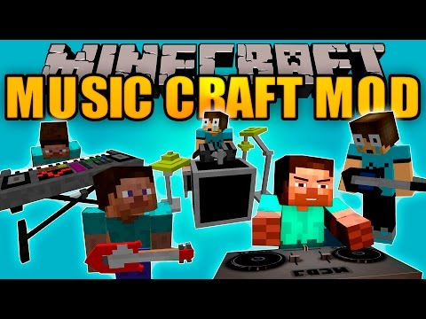 MUSIC CRAFT MOD - Instrumentos musicales que FUNCIONAN - Minecraft mod 1.7.10 Review