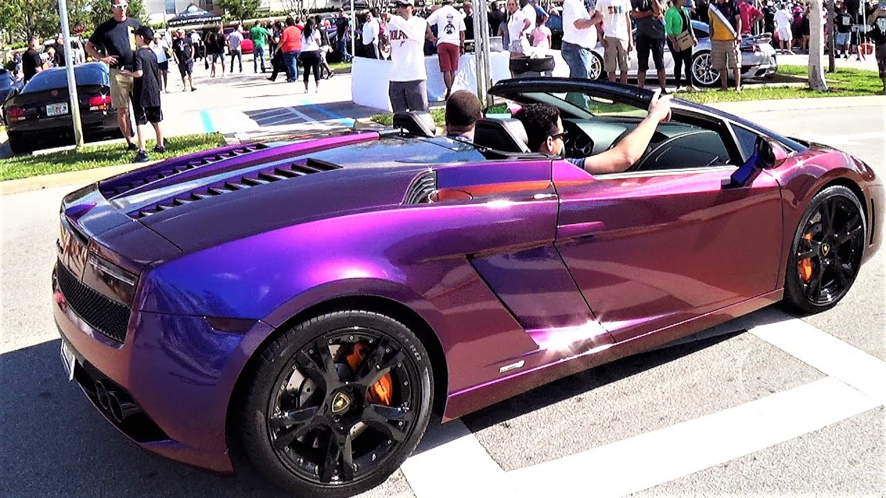 Purple Lamborghini Gallardo Changing Colors Supercar Chameleon Paint