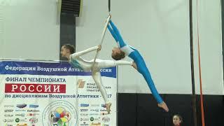 ВОЗДУШНОЕ КОЛЬЦОДуэт дети 10-13 летБикмулина Вероника и Сафина Карина (Тюмень) финал -2017