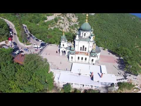Россия Крым Форос Церковь Воскресения Христова 4K (DJI Phantom 3 Pro)