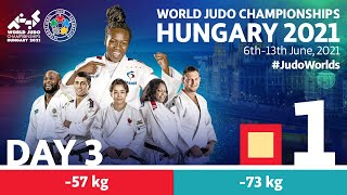 Day 3 - Tatami 1: World Judo Championships Hungary 2021