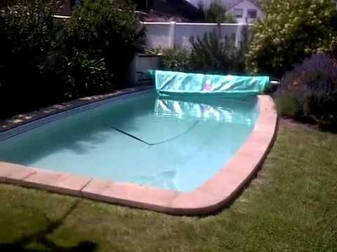 piscina fibra de vidrio cubierta termica con enrollador