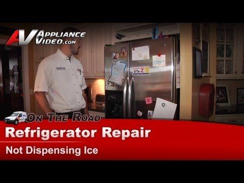 Ice maker is not dispensing - Checking auger motor & ice bucket - Maytag, Whirlpool MSD2550VE502