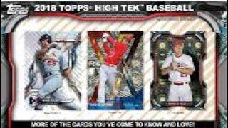 11/06/18 - eBay - 9 PM CDT - 2018 Topps High Tek Baseball 1/2 Case Break